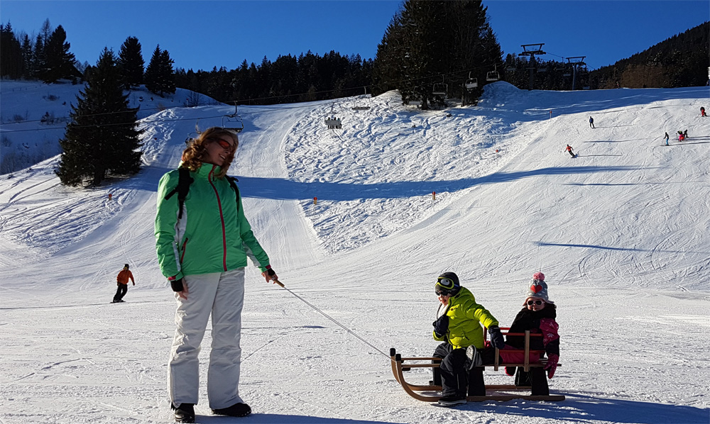 Met kinderen op wintersport