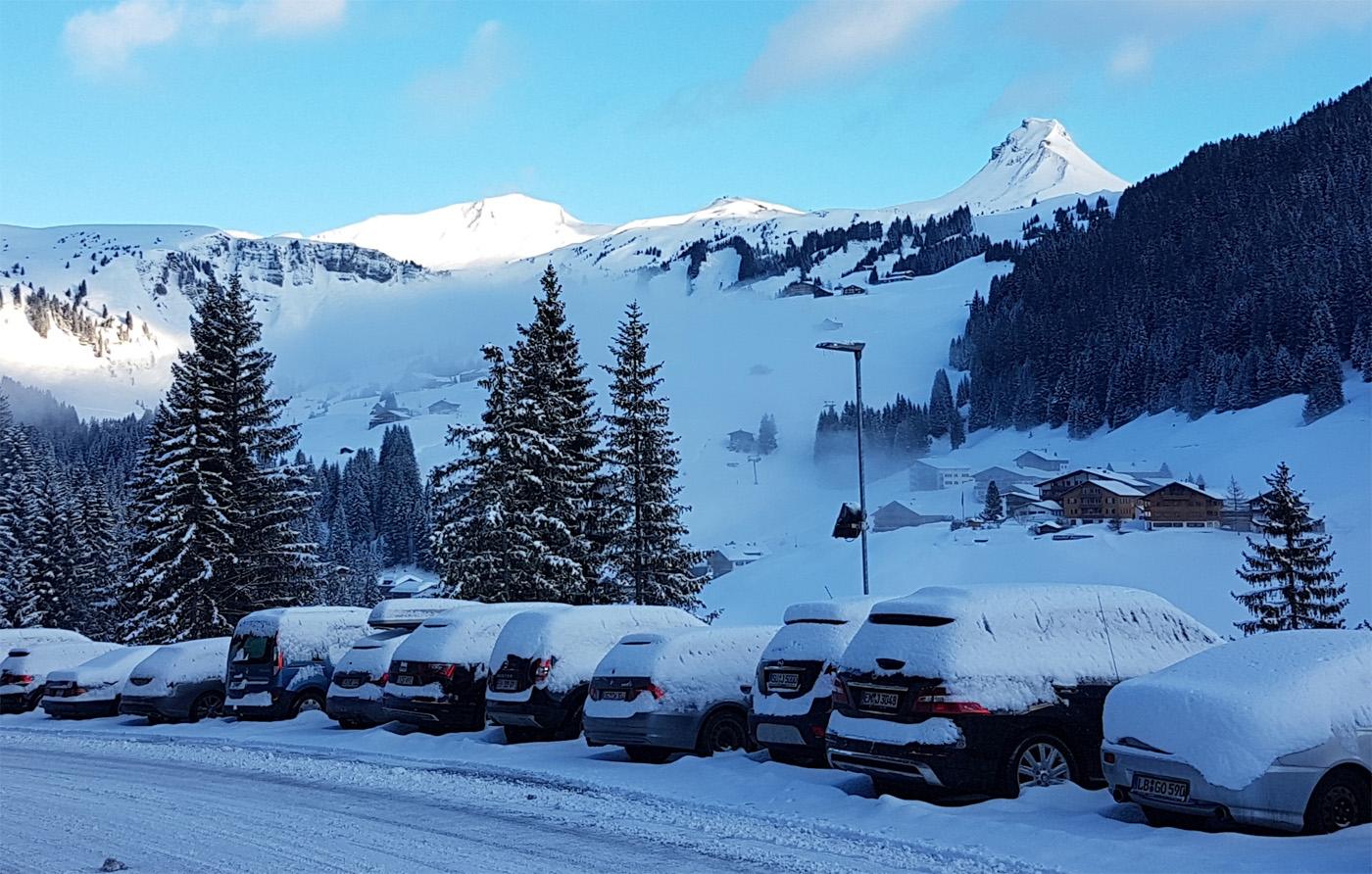 Sneeuw tijdens de wintersport