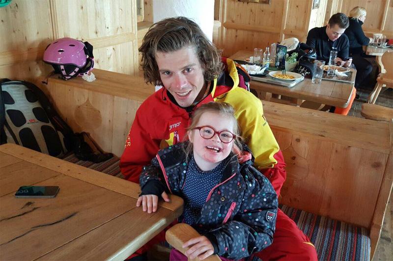 Michael tijdens eens skitrip