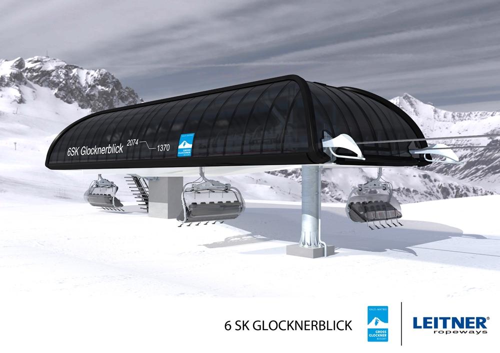 Nieuwe 6-persoons stoeltjeslift Glocknerblick