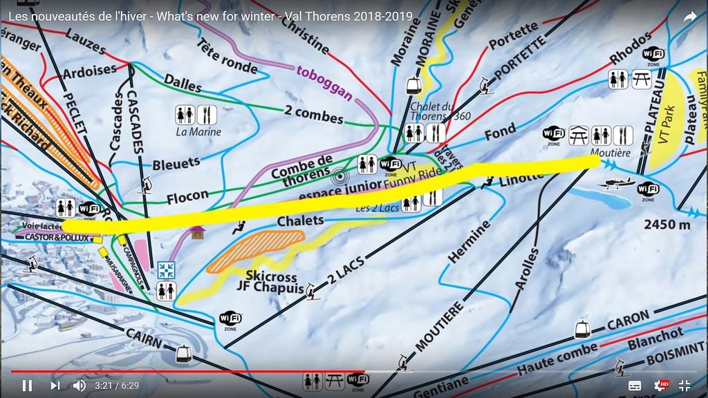 Het tracé van de nieuwe tyroliënne