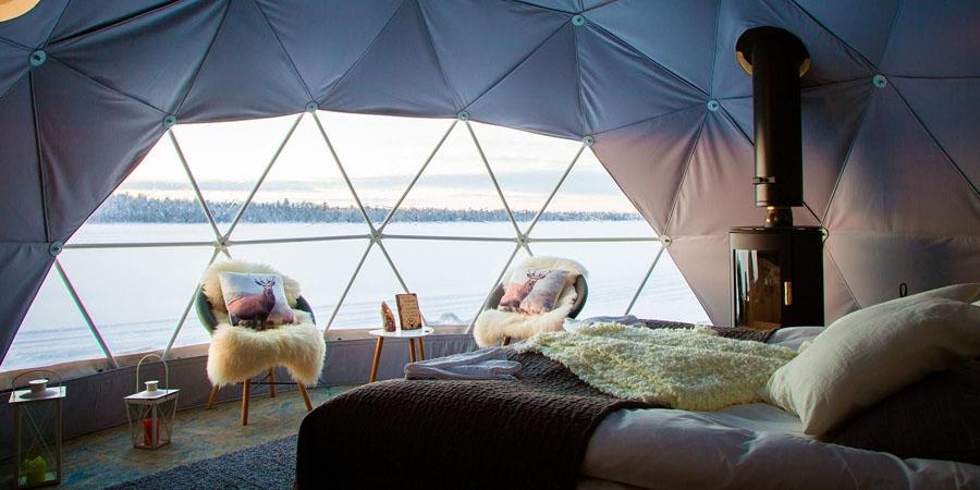 Overnacht in een Aurora Dome