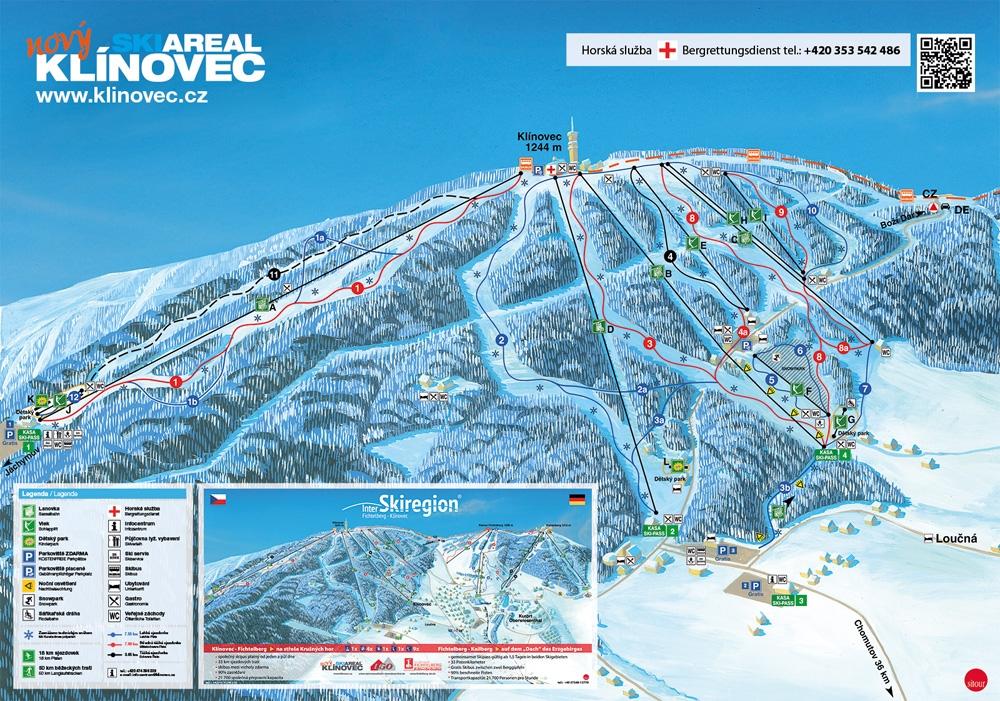 Ski resort Klínovec - Pistekaart