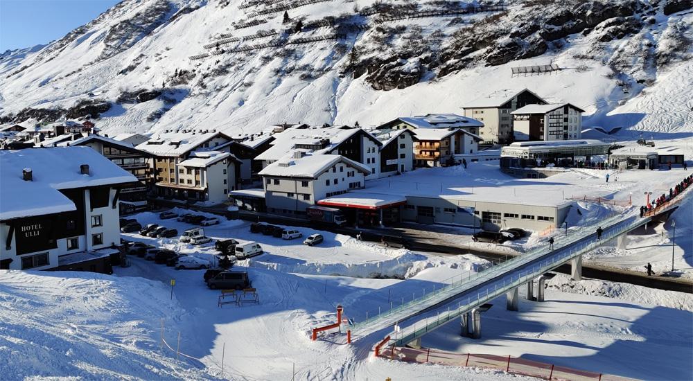 Skibrug bij Zürs