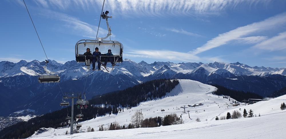 Skiën aan de kant van Serfaus