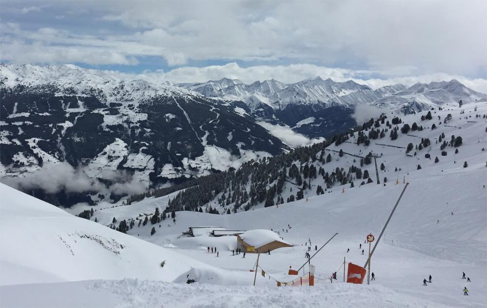 Skigebied Kaltenbach, uitzicht op skigebied Zell am Ziller