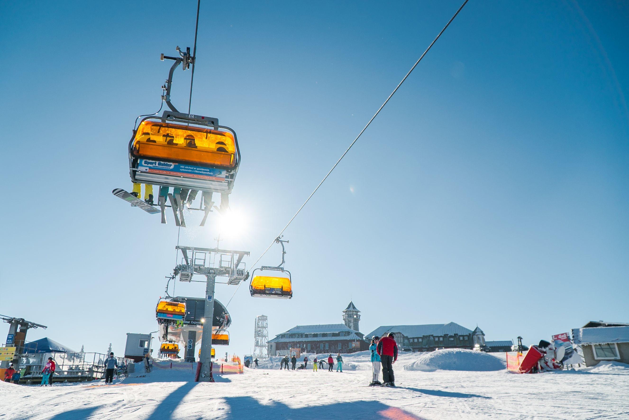 Skigebied Klinovec