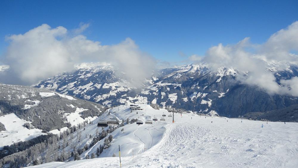 Skigebied Mayrhofen nabij Möslbahn