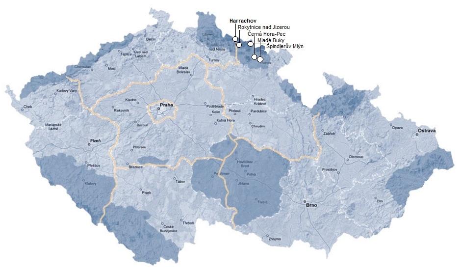 Skigebieden Reuzengebergte