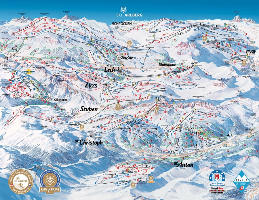Skigebied Ski Arlberg
