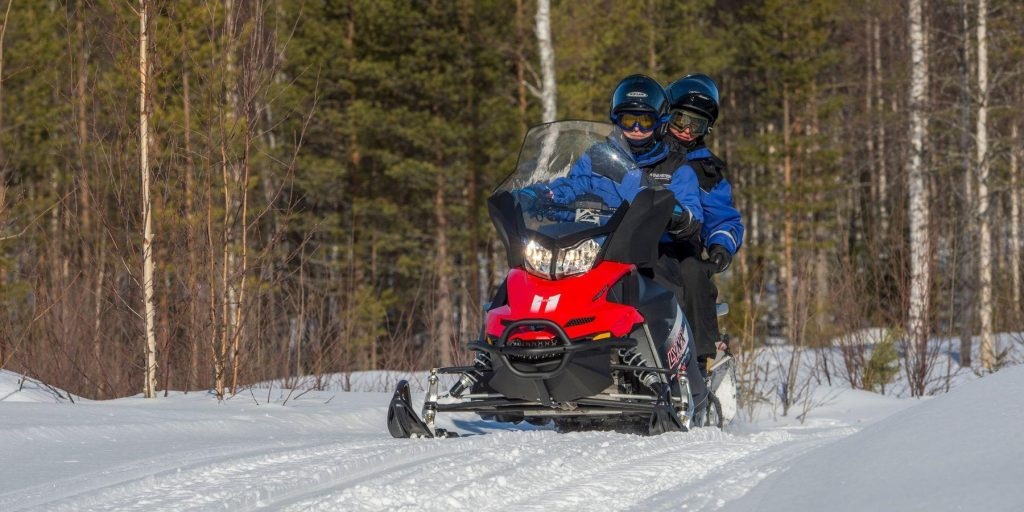 Sneeuwscootertocht in Lapland