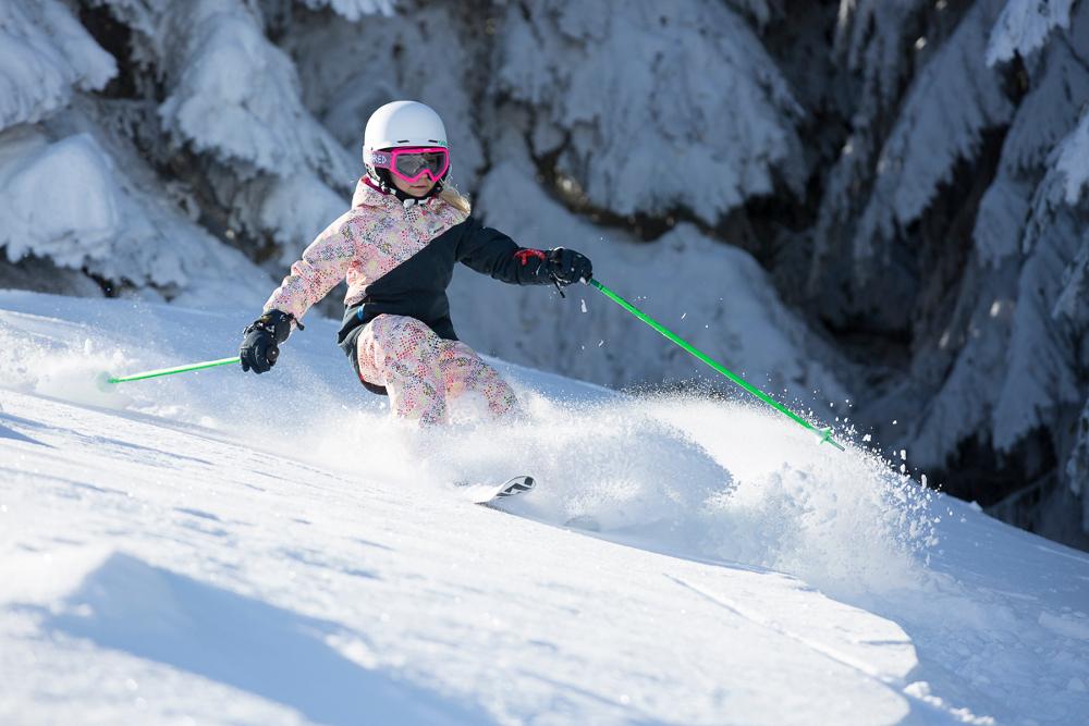 Tiefschnee skiën van jongs af aan