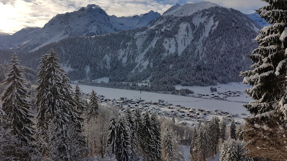 Uitzicht over Schoppernau