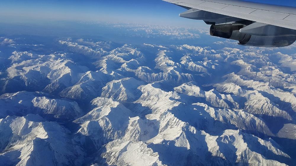 Vliegen over de Alpen
