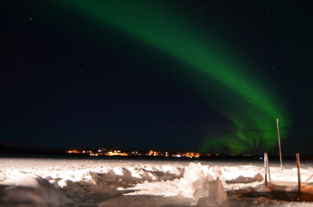 Sprookjeswereld in winters Lapland - Ijswakvissen